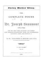 The Complete Poems of Dr. Joseph Beaumont (1615-1699): Psyche, cantos XII-XXIV. Minor poems in English and Latin. Glossarial index