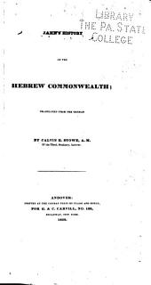 Jahn's History of the Hebrew Commonwealth