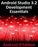 Android Studio 3 2 Development Essentials   Android 9 Edition PDF