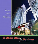 Mathematics for Business   Student s Solutions Manual PDF
