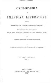 Cyclopædia of American Literature: Volume 1