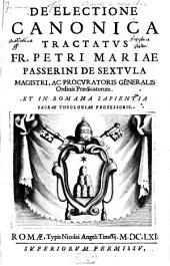 De electione canonica tractatus