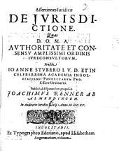 Assertiones iuridicae de iurisdictione