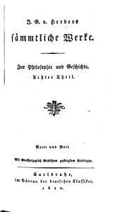 Sämmtliche werke: zur philosophie und geschichte, Band 8