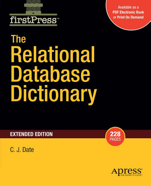 The Relational Database Dictionary  Extended Edition PDF