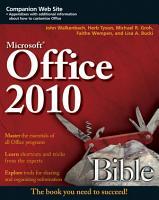 Office 2010 Bible PDF