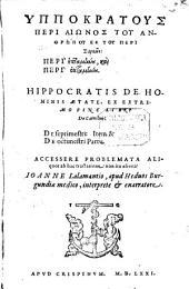 De hominis aetate: ex extremo fine libri de carnibus, de septimestri item et de octimestri partu