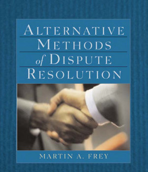 Alternative Methods of Dispute Resolution PDF