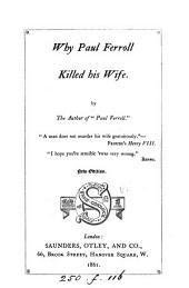 Why Paul Ferroll killed his wife, by the author of Paul Ferroll