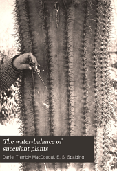The Water-balance of Succulent Plants