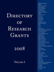 Directory Of Research Grants 2008 Book PDF