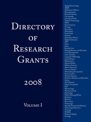 Directory of Research Grants 2008 PDF