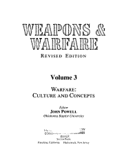 Weapons   Warfare  Warfare   culture and concepts PDF