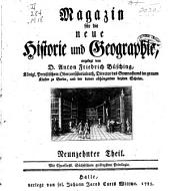 Magazin für die neue Historie und Geographie Angelegt: Band 19