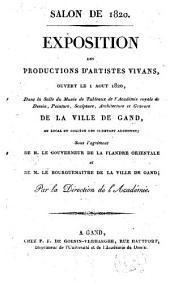Salon de 1820. Exposition des productions d'artistes vivans ...