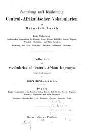 Sammlung und Bearbeitung Central-Afrikanischer Vokabularien