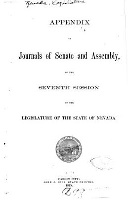 Appendix to Journals of Senate and Assembly     of the Legislature PDF