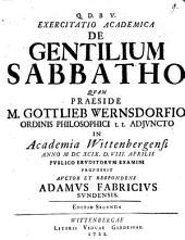 De Gentilium Sabbatho
