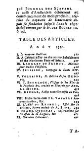 Le Journal des Scavans: Volume91