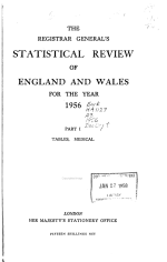 The Registrar General's Statistical Review of England and Wales. [New Annual Series]