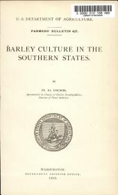 Barley Culture in the Southern States