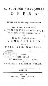 C. Suetoni Tranquilli Opera: Volume 2