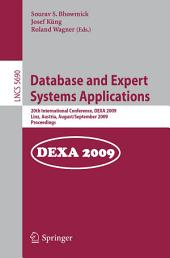 Database and Expert Systems Applications: 20th International Conference, DEXA 2009, Linz, Austria, August 31 - September 4, 2009, Proceedings