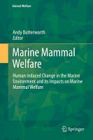 Marine Mammal Welfare PDF