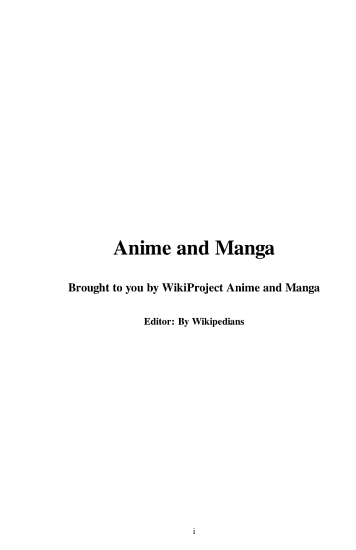 Anime and Manga PDF