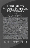 English to Middle Egyptian Dictionary PDF