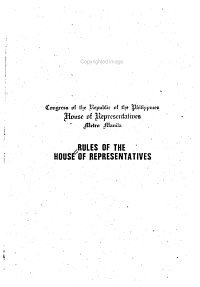 Rules of the House of Representatives   Rules of Procedure Governing Inquiries in Aid of Legislation  The Constitution of the Republic of the Philippines