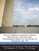 Tests of Eighteen Concrete Columns Reinforced with Cast Iron PDF