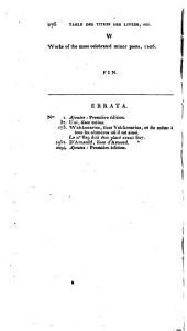 Catalogue des livres rares et précieux de la bibliothèque de feu m. Pierre-Henri Larcher dont la vente se fera dans le commencement de février 1814 ...
