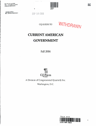 CQ Guide to Current American Government 2006 Fall PDF