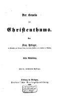 Apologie des Christenthums  Der Beweis des Christenthums PDF