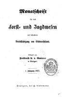Monatschrift f  r das forst und jagdwesen     1  22 jahrg   1857 1878 PDF