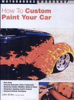 How to Custom Paint Your Car PDF