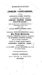 Dissertatio de Anselmo Cantuariensi