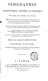 Géographie mathématique physique et politique de toutes les parties du monde