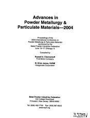 Advances in Powder Metallurgy   Particulate Materials PDF
