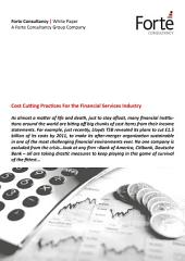 Cost Cutting Practices For the Financial Services Industry