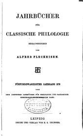 Neue Jahrbücher für Philologie und Paedagogik: Band 119