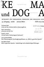 Kerygma und Dogma PDF