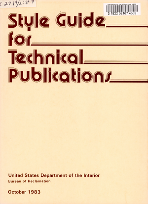 Style Guide for Technical Publications