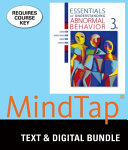Essentials of Understanding Abnormal Behavior   Mindtap Psychology  1 Term 6 Month Printed Access Card Book