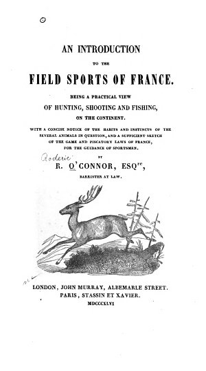 An Introduction to the Field Sports of France