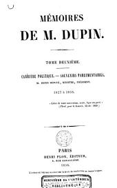 Mémoires de M. Dupin: Volume2