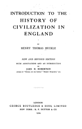 Introduction to the History of Civilization in England