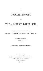 a popular account of the acient egyptions.
