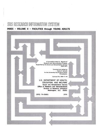 SRS Research Information System  Index  Volume II  Facilities Through Young Adults PDF